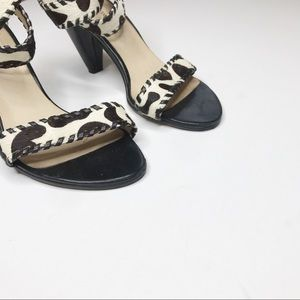 all black Shoes - anthropologie all black ankle strap calf hair heel